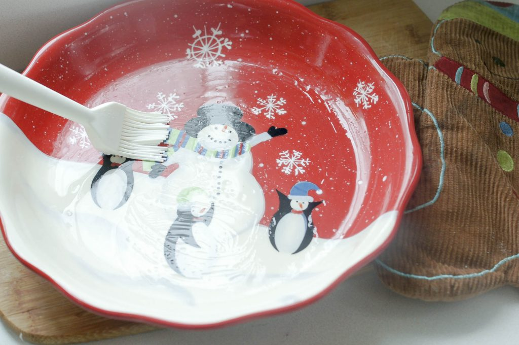 Prepare the pan_Christmas Morning Bacon Quiche (AI Keto, Paleo, Whole30)