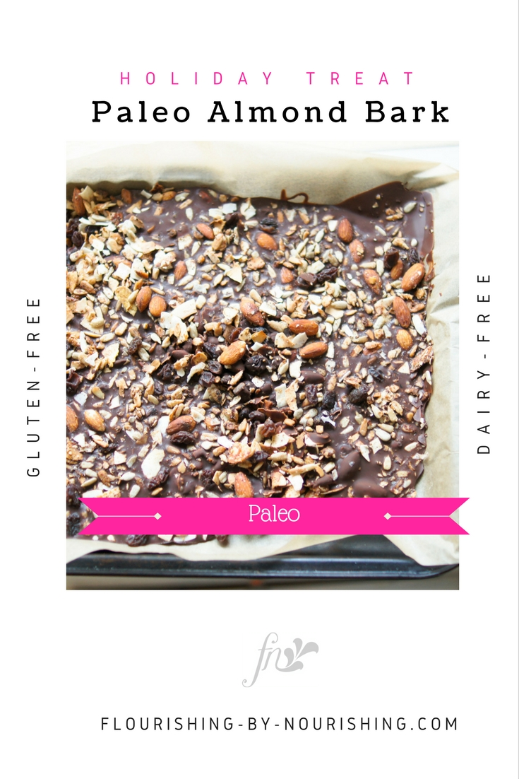 PIN! Paleo Almond Bark on Cookie Sheet