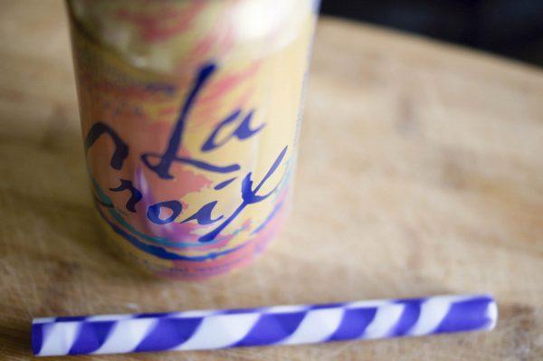 La Croix Can with Straw for La Croix Floats Recipe