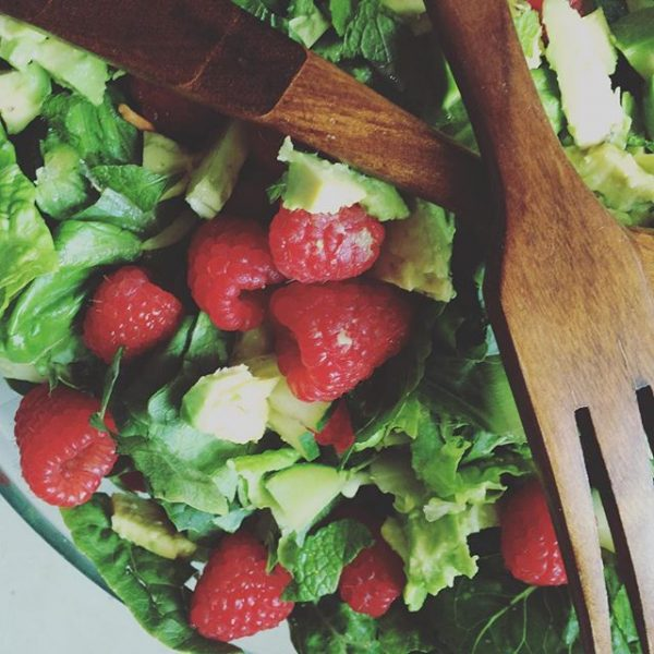 Romaine Raspberry Salad (AIP Paleo, AI Keto, Whole 30)